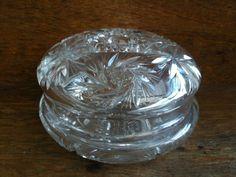 Vintage English Lead Crystal Glass Box by EnglishShop on Etsy, $79.00