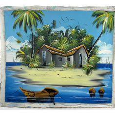 Haitian Acrylic Painting on Canvas - Haiti from Latitudes Fair Trade - 150.00