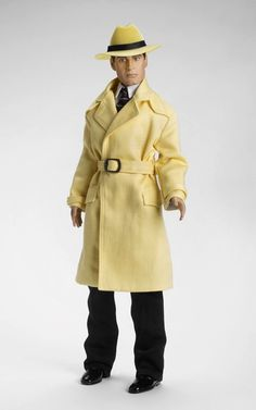 """17"""" vinyl Dick Tracy doll, based on the Chester Gould comic strip character published by the Chicago Tribune New York News Syndicate, United States, 2009, by Tonner Doll Company."""