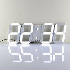 Chihai Remote Control Jumbo Digital Led Wall Clock(white Shell White Digital)
