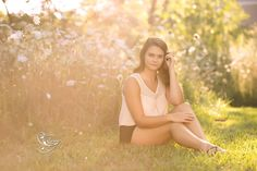 Senior picture ideas for girls. summer meadow with gorgeous light