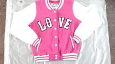 Girls Lettermens Jacket Sweater, gently worn but in excellent shape, Love Letters are factory distressed. Cool!!
