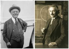 Carl Laemmle (left) first met Albert Einstein (right) when he invited him to Hollywood.