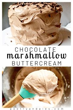 Sweet Recipes, Cake Recipes, Dessert Recipes, Cake Filling Recipes, Just Desserts, Delicious Desserts, Marshmallow Buttercream, Buttercream Icing, Fluffy Frosting