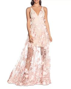 Dress the Population Sidney Embellished Lace Gown Women - Dresses - Evening & Formal Gowns - Bloomingdale's