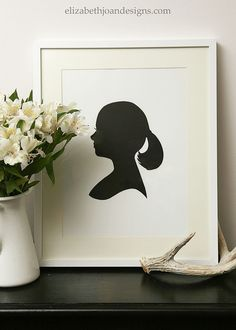 Craft Projects for Your       Silhouettes are always classy