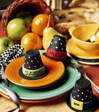 Pilgrim Hat Place Cards