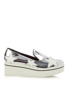 Binx metallic faux-leather flatform loafers   Stella McCartney   MATCHESFASHION.COM