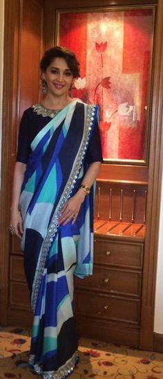 Madhuri Dixit celebrating #Holi. #Bollywood #Fashion #Style #Beauty