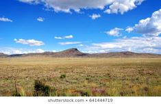 Karoo in South Africa. Scenic view of semi-desert. Beautiful landscape of unique African Great Karoo. Amazing semi desert with sparse vegetation with hills, blue sky and clouds in the background. Royalty Free Images, Royalty Free Stock Photos, Sky And Clouds, Beautiful Landscapes, South Africa, Mountains, Illustration, Pictures, African
