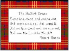 well known Grace much used in Scotland, in days gone by