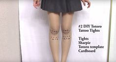 Totoro DIY pantyhose.  Ever wondered how to home-print your favourite character onto your tights? This video...http://tights.fun/totoro-tights/