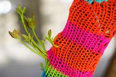 regrowth on a yarnbomb by grrl+dog by grrl+dog, via Flickr