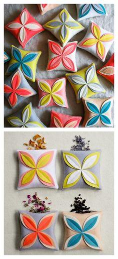 DIY Easy Felt Flower Power Sachet