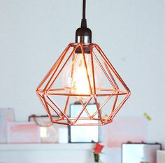 """""""nordic geometric copper ceiling pendant"""" from not on the high street perfectly fits with my style"""