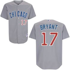 25abac5c7 Men s Authentic Jersey - Majestic Chicago Cubs  17 Kris Bryant Grey Road  Jersey France Jersey