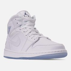 Jordan Retro 1 Mid White White Wolf Grey Men S Size 8 Clean W