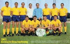 Eintracht Braunschweig of West Germany team group in 1967.