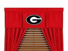 "Georgia Bulldogs 50"" x 15"" Coordinating Pleated Valance for ""The MVP Collection"" by Kentex by Kentex. $28.95. The new NCAA MVP Collection is a sports logo bedding line that is unique in its appeal to both young and more mature tastes, sporting team colors with a soft leather texture-printed stripe. The best part of this new look is it ultra soft and washable micro suede 100% polyester fabric which is perfect for bedding, because it stays soft, colorfast and wr..."