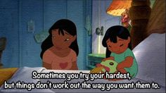 Sometimes you try your hardest ....