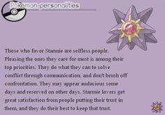 Pokemon Personalities - Starmie - #121/719.
