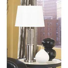 Signature Design By Ashley - Norma Table Lamp (set of 2) Silver Table Lamps, Metal Table Lamps, Table Lamp Sets, Furniture Depot, Bedroom Furniture, Brushed Metal, Brushed Nickel, Drum Shade, Nickel Finish
