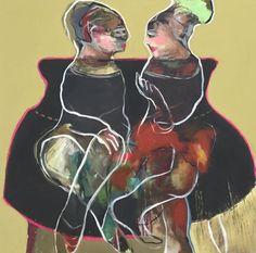 Mona Nahleh 'Long Story' 100x100cm 2015