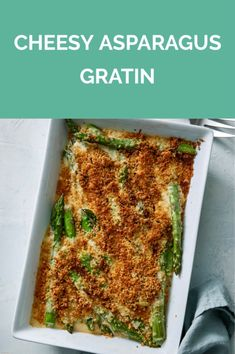 Get the recipe for Cheesy Asparagus Gratin. Easy Easter Recipes, Spring Recipes, Easy Recipes, Keto Recipes, Vegetarian Recipes, Healthy Recipes, Asparagus Casserole, Vegetable Side Dishes, The Fresh