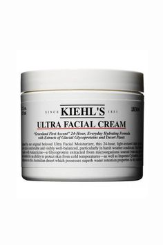 """""""I swear by Kiehl's Ultra Facial Cream. I slather it on with a little cotton pad at night after washing my face and just before getting into bed, and I wake up looking positively dewy. I have very dry, sensitive skin, and while I'm not regularly prone to breakouts, I do tend to get blackheads. This is the only moisturizer I've used that doesn't clog my pores in any way, and I love the long list of natural ingredients."""" -Victoria Hoff, editorial assistant  $27; kiehls.com"""