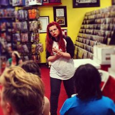 (Apparently when I am lecturing and someone asks a question, I grab my wrist and try to look like a carp. Thanks to Ultimate Comics for the photo!) Someone compiles a list of general tips given out...