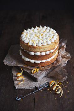 recipe for a layer cake with toffee frosting and oranges / Rezept für eine winterliche Orangen- Karamell- Torte