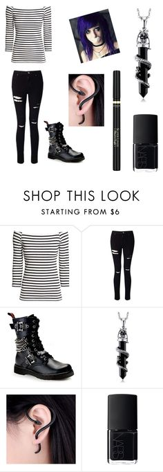 """""""To: frostbiten"""" by donna-bender ❤ liked on Polyvore featuring H&M, Miss Selfridge, Demonia, NARS Cosmetics and L'Oréal Paris"""