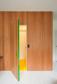 Paint the edges of your door for a subtle hint of color.