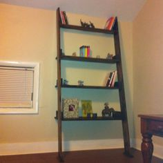 Homemade Ladder Shelf