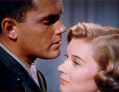 Hope Lange Jeffrey Hunter , In Love and War, 1958.