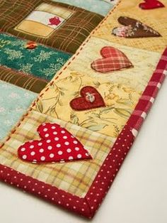 Heart spun quilt  Of course , it's Patchwork Pottery