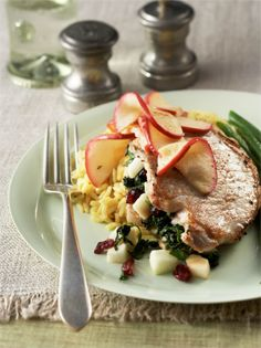 Apple-Cranberry Stuffed Pork Chops