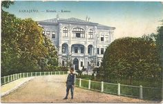 Bosnia, Sarajevo, Konak, Building with a Soldier, Old Postcard