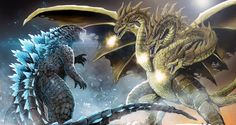 Godzilla vs King Ghidorah by Aosk26 on deviantART