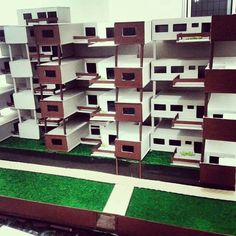 Maquete volumétrica - proposta: habitação coletiva.