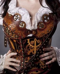 Amazing steam punk corset...yes, I'm imbracing my inner geek but oh em gee!