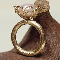Alexandria+Flower+Ring+++18k+Solid+Gold+Ring+with+di+Kosmimata,+$3150,00