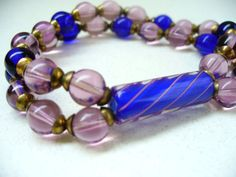 Mother's Day Gift Vintage Bracelet Lilac Purple Deep by kzannoart, $32.00