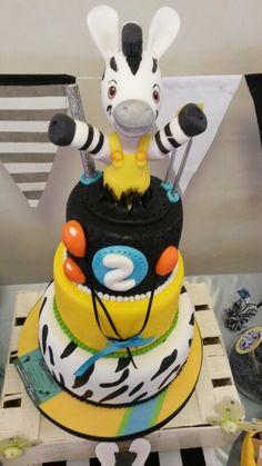 Zou cake 5th Birthday, Happy Birthday, Birthday Cake, Zou, Foundant, Gorgeous Cakes, Baby Kind, Animal Party, Celebration Cakes