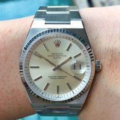 """""""Rolex Reference circa Automatic movement in an Oysterquartz case. Superb unpolished and untouched condition, limited production. Rolex Oyster Perpetual Date, Rolex Datejust, Gold Watch, Rolex Watches, Funny, Accessories, Hilarious, Entertaining, Fun"""