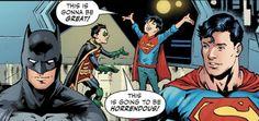 Jon and Damian in a nutshell - Batman Funny - Funny Batman Meme - - Jon and Damian in a nutshell The post Jon and Damian in a nutshell appeared first on Gag Dad. Batman Meme, Batman And Superman, Batman Robin, Marvel Dc Comics, Batman Arkham, Batman Art, Super Sons, Batfamily Funny, Sanji One Piece