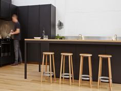 IMO was established in 2003 by owner and director Sam Haughton. IMO has a broad product range of furniture including storage, soft seating, tables and work systems. Kitchen Stools, New Kitchen, Bar Stools, Kitchen Reno, Kitchen Ideas, Cook Up A Storm, Solid Oak, Architecture Design, Kitchen Design