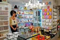 The shop!  Cursive, as featured on Shopikon, with a very familiar looking 'fro...