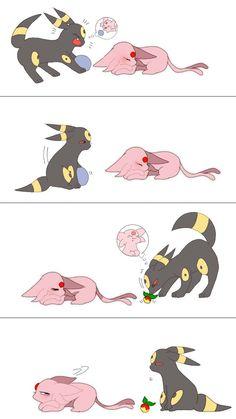Pokemon Mew, Pokemon Faces, Pokemon Eevee Evolutions, Pokemon Comics, Eevee Comic, Umbreon And Espeon, Cute Fantasy Creatures, Cute Pokemon Wallpaper, Anime Animals