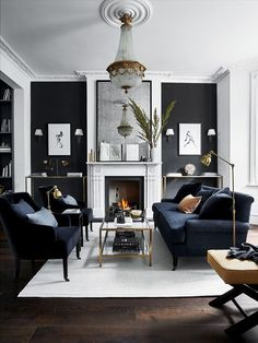 Dare to decorate your living room black? You would if you looked at these gorgeous spaces